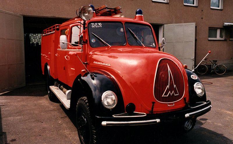 Ab 1962 im Dienst: TLF 16