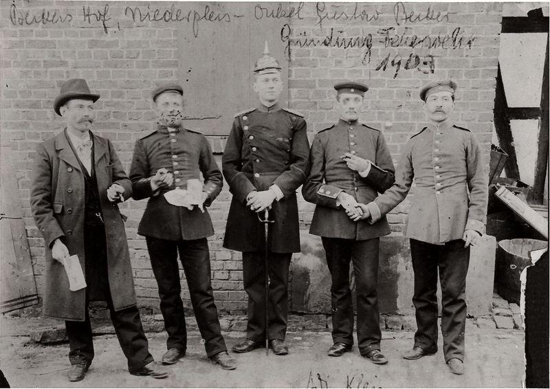 Gründer der Löschgruppe 1903