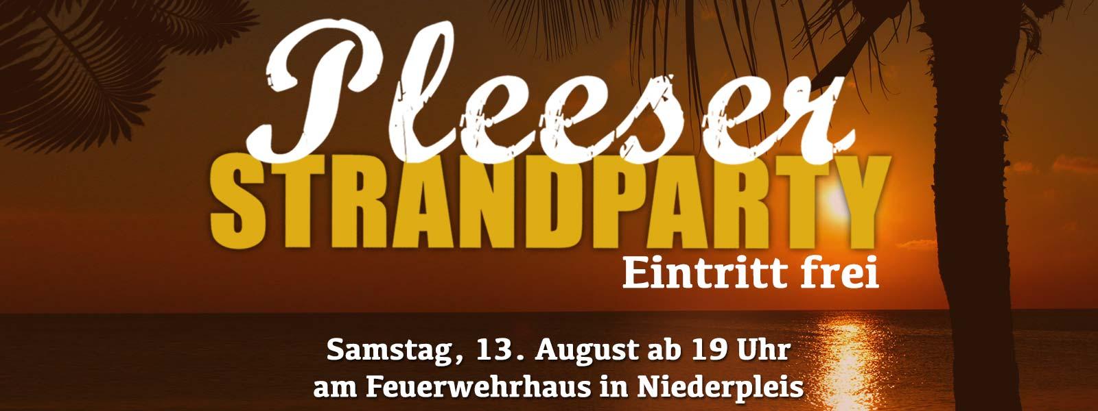 Pleeser Strandparty